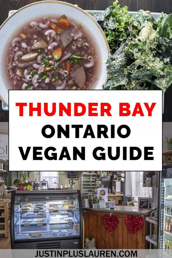 Thunder Bay, Ontario, Canada has an excellent local vegan scene! There are vegan restaurants in Thunder Bay, vegetarian and veg-friendly options, and even a vegan grocery store. Here's my vegan Thunder Bay travel guide. #ThunderBay #Ontario #Canada #Travel #Vegan #Restaurants #Vegetarian