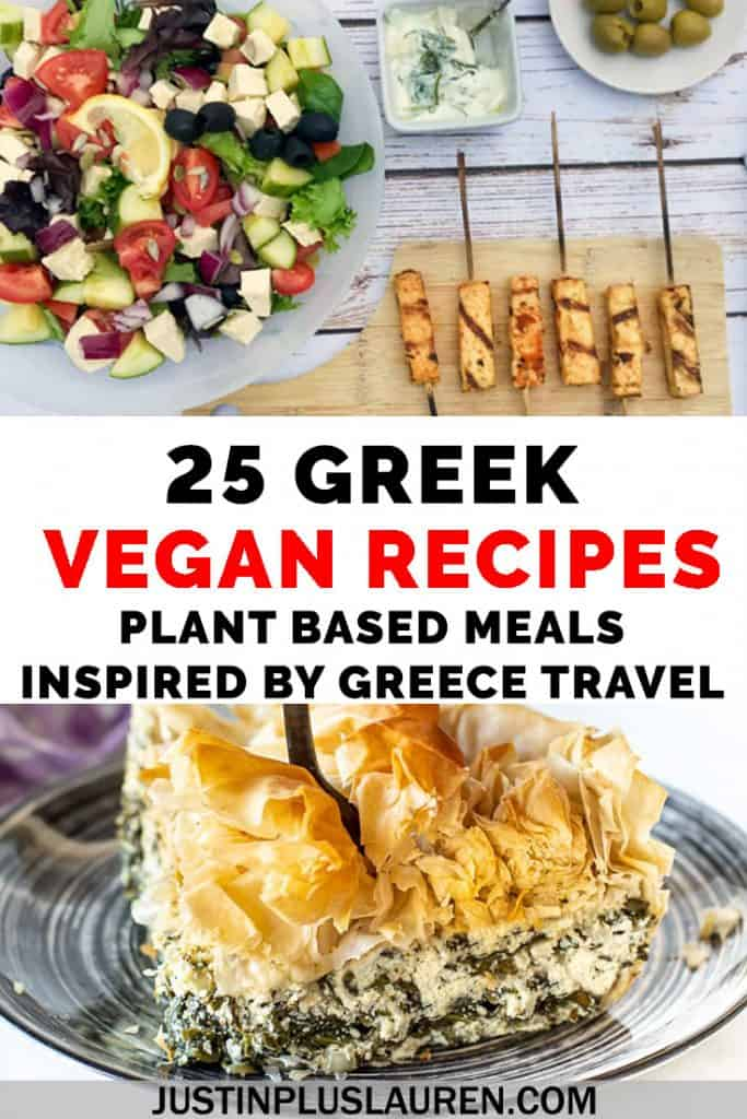 Let's bring a little taste of Greece to our home kitchens! These vegan Greek recipes are inspired by traditional Greek food, and they're 100% plant-based. Let's cook vegetarian and vegan Greek food! There are 25 Greek recipes here, inspired by travels to Greece. #Greece #Greek #Food #Recipes #Vegan