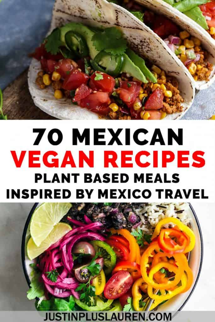 Want to bring the flavors of Mexico to your own kitchen? Here are a whopping 70 vegan Mexican recipes featuring tacos, burritos, soups, salsas, snacks and more! Make Taco Tuesday every night with these delicious plant based Mexican meals. #Recipes #Vegan #VeganFoodShare #Mexico #MexicanFood #TacoTuesday