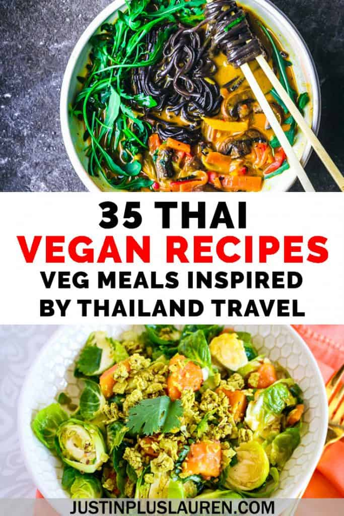 Curious about Thai cuisine? You can make these amazing 35 vegan Thai recipes from home! Bring a taste of Thailand to your own kitchen with these meals inspired by Thailand travel. Pad Thai, comforting curries, and so much more. #Vegan #PlantBased #Thailand #Recipes #VeganRecipes