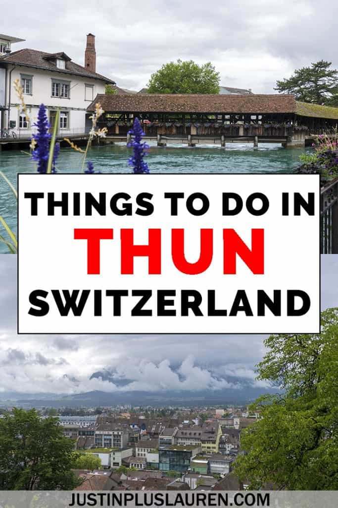 Thun is a beautiful town in Switzerland, and it's easy to take a day trip there from Bern or Interlaken. Here are the best things to do in Thun Switzerland for a day trip. #Thun #Switzerland #DayTrip #Swiss #Town #OldTown #Europe