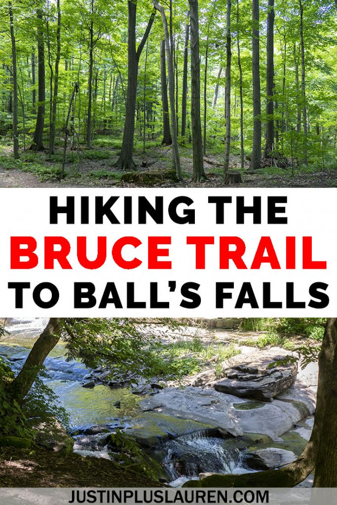 Follow along on my hiking journey as I hike the entire Bruce Trail in Ontario, Canada. This is my tenth hike in Lincoln, Ontario to Ball's Falls Conservation Area. Here's why you need to hike the Bruce Trail and check out these amazing waterfalls, too! #Ontario #Canada #Hiking #BruceTrail #BallsFalls
