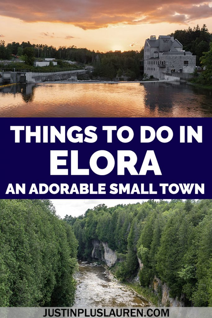 These are the best things to do in Elora Ontario, a charming small town an hour away from Toronto. Spend a weekend in downtown Elora and the Elora Gorge. #Elora #Ontario #Canada #SmallTown #ThingsToDo