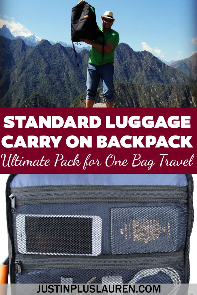 This is the only carry on backpack you'll ever need! The Standard Luggage carry on backpack is perfect for one bag travel. There are so many amazing features that you won't see in any other bags.