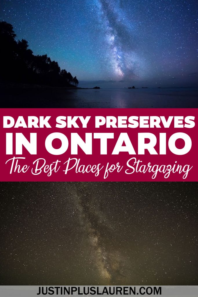 These dark sky preserves in Ontario are the best places to go stargazing! If you're looking to see the stars in Ontario without light pollution, head to these amazing parks.