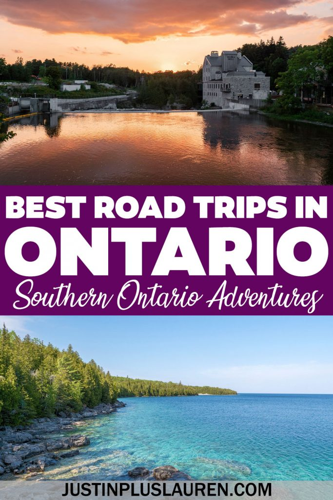 These are the best road trips in southern Ontario that you need to experience! These are amazing Ontario road trip ideas for the best weekend getaways (or longer!)