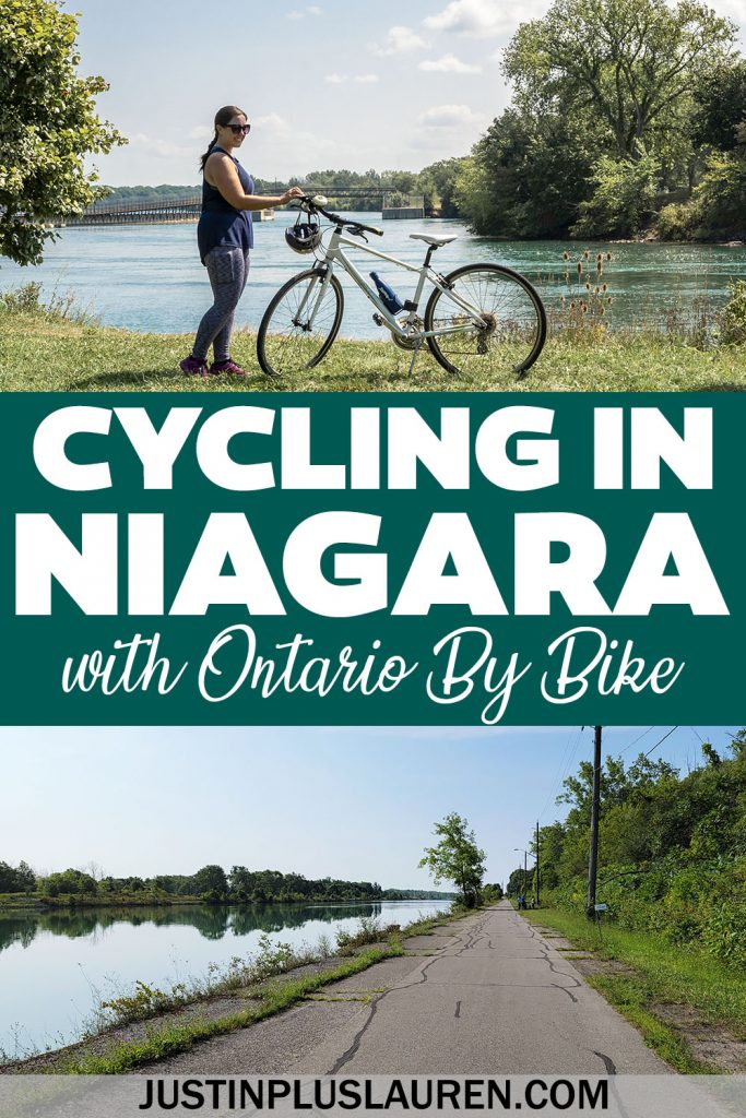 I went cycling in Niagara on a group ride with Ontario By Bike! Ride Niagara bike trails in Thorold, Niagara-on-the-Lake, Fort Erie & more.
