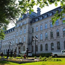 Parliament Building in Quebec City with Beautiful Gardens