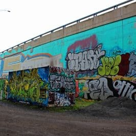 Highway Overpass Graffiti…or Street Art in Quebec City