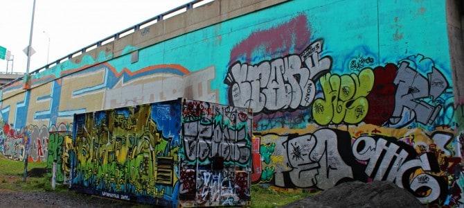 Highway Overpass Graffiti…or Street Art in Quebec City