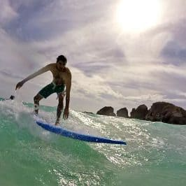 Surfing in Bermuda: Learning to Surf with Isolated Surfboards